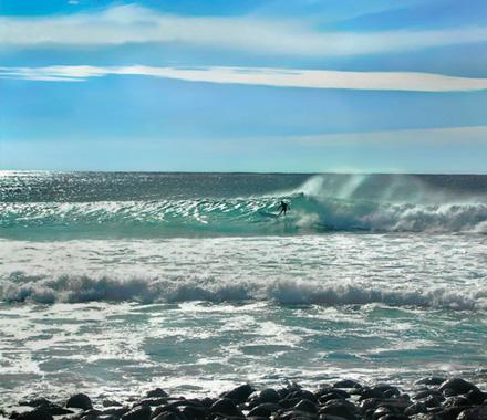 Surfer at Lennox Head