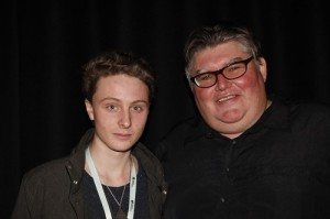 Jacob Clarke, winner of the inventors pitch, with Ric Richardson