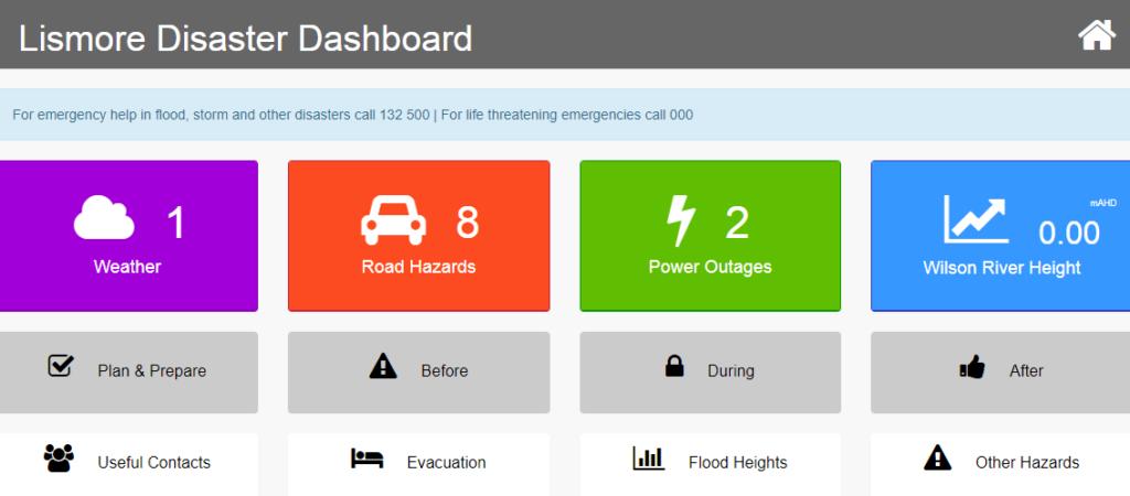 Lismore City Council Disaster Dashboard