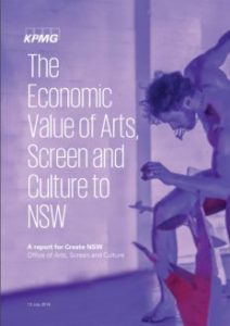 NSW gov economic value of arts screen culture cover page